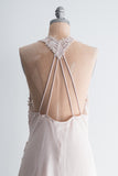 Vintage Light Pink Embroidered Applique Slip - M/L