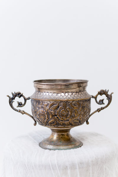 Vintage Bas-Relief Compote/Loving Cup