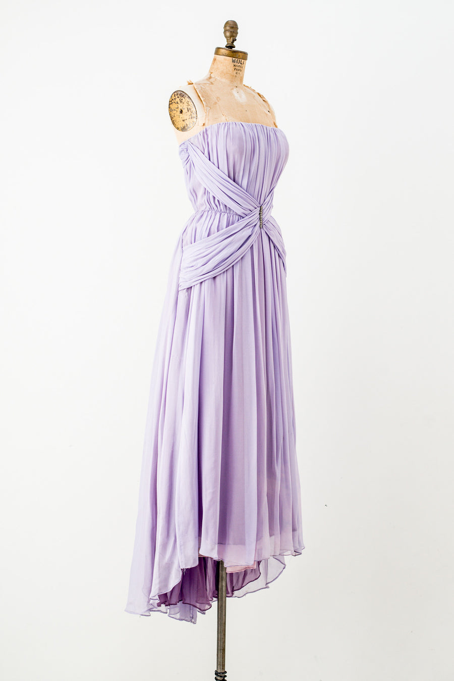 Vintage Strapless Lavender Dress - S
