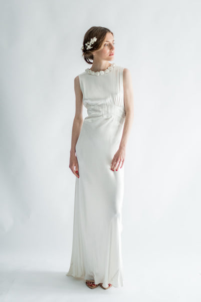 1930s Satin Bias Cut Gown - XS