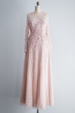 HOLD Blush Pink Sequined Embellished Gown - M/6