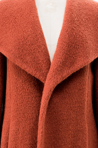 1960s Sienna Wool and Cashmere Coat - M/L