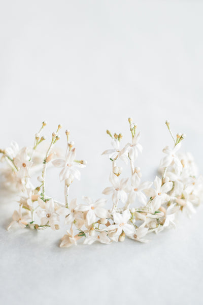 Antique Flower and Wax Crown