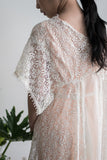 1920s Silk and Tatted Lace Jacket - M