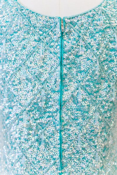 1960s Wool Beaded Top - M