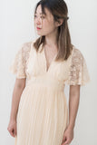 1970s Peach Cotton Gauze Dress - XS