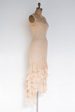 1980s Silk Chiffon Dress - S/M