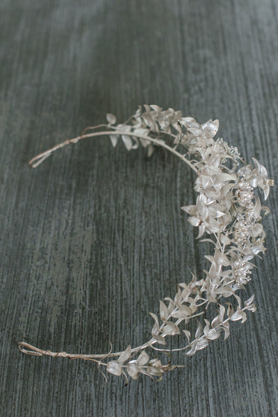 Silver Antique German Tiara