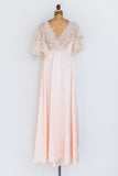 1950s Silk and Satin Gown - S/M