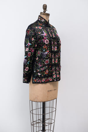 Vintage Silk Chinese Export Jacket - S/M