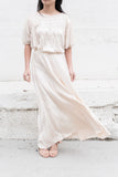 Vintage Flowing Silk Beaded Dress - M