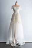 1950's Silk Lace and Tulle Gown - S