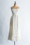 1970s Strapless Crochet Lace Dress - XS