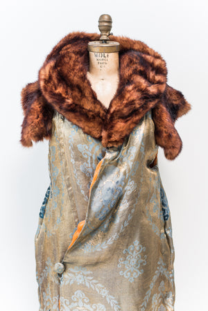 RESERVED 1920s Silk Lame' and Velvet Cocoon Jacket - One Size