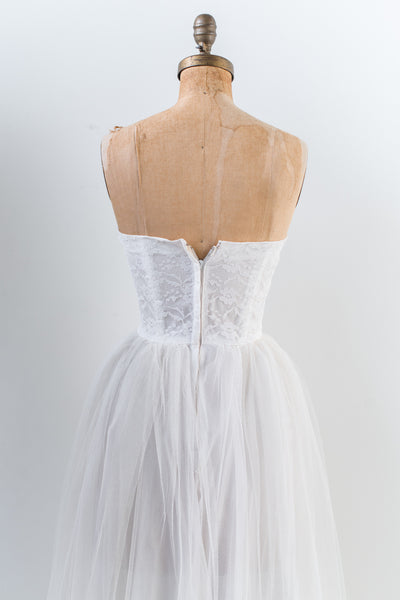 1950s Sweetheart Tulle Dress - XS