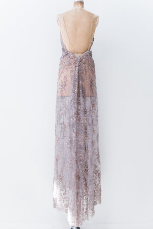 Lavender Beaded Dress  - S