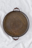 Vintage Brass Circle Tray