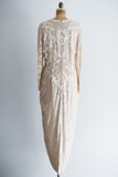 1980 Abstract Art Beaded Dress - M/L
