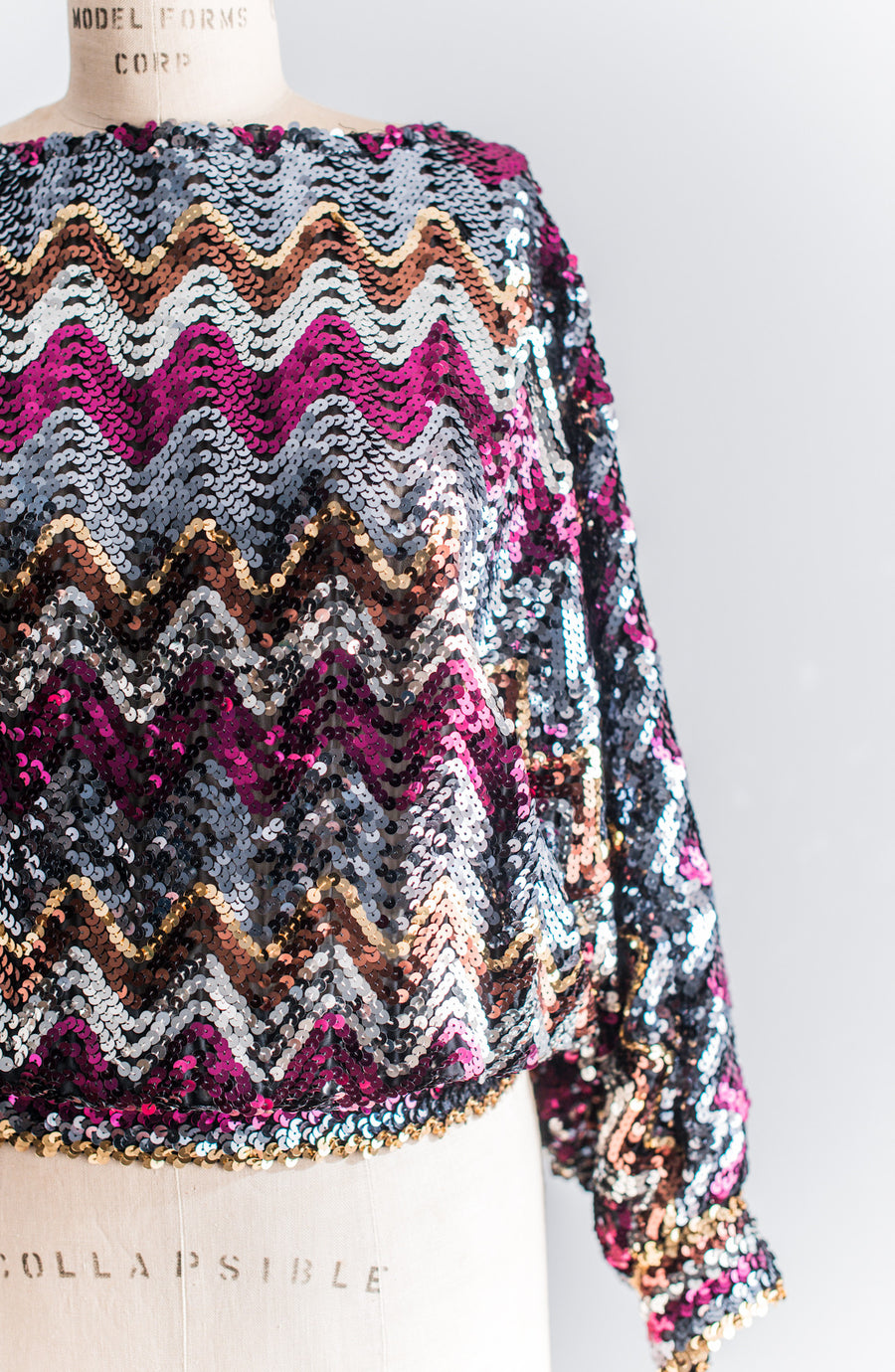 1980s Sequined Sweater - M/L