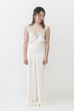 1930s Satin and Lace Bias Cut Slip - M/L
