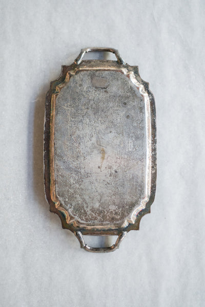 Small Antique Handle Engraved Tray