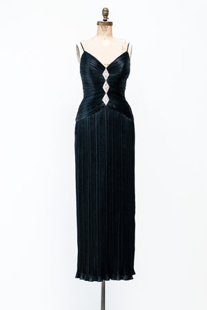 1980s Fortuny-Inspired Micro Pleated Dress - S