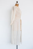 1930s Silk Smocked Robe - S/M