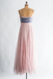 1950s Pink Silk Layered Gown - S