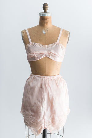 1930s NOS Bralette and Tap Pants - S/M