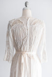 Edwardian Whitework and Irish Lace Gown - M