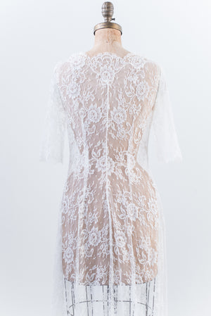Silk Lace Dressing Gown - S