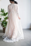 Rare Edwardian Lace Sweeping Dressing Gown - M