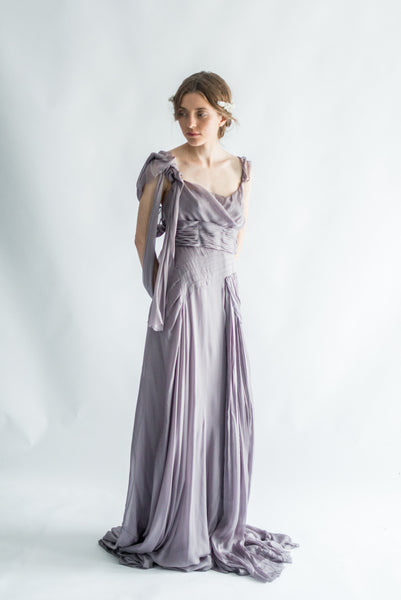 RENTAL Silk Lavender Goddess Gown - S