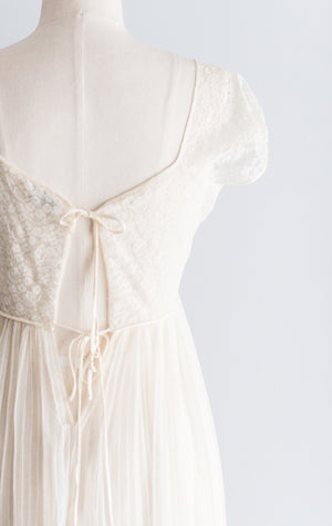 1950s Sheer Nylon Night Gown - S/M