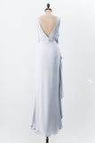 Periwinkle Silk Dress - M