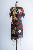 1980s Beaded Rock n Roll Dress - S
