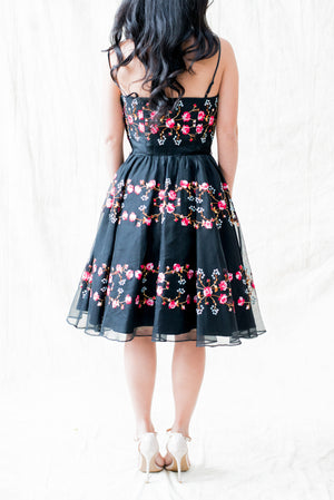 Embroidered Silk Organza Dress - XS