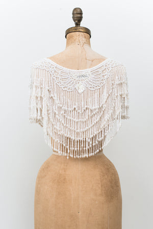 1980s Silk Beaded Collar - One Size