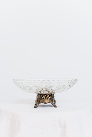 Antique Cut Glass Compote - S