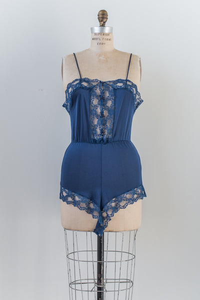 Vintage Midnight Blue Romper - S/M