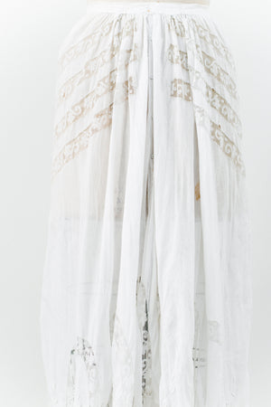 Rare Edwardian Embroidered Skirt - S/M