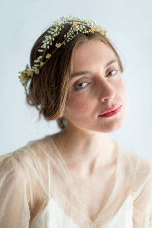 1920s Wax Bud Tiara - One Size