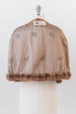 1950s Mocha Brown Mink Capelet - One Size
