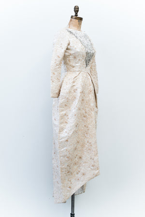 1950s Corded Lace Dress - XXS