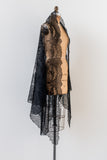 Intricate Silk Lace Shawl/Veil - One Size