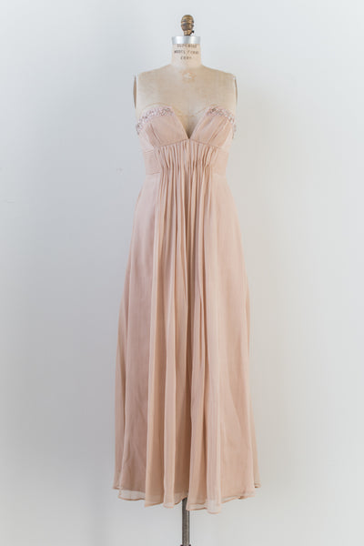 Pink Chiffon Gown - S/M