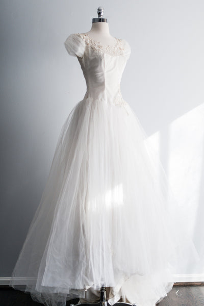 1950s Tulle Gown - S