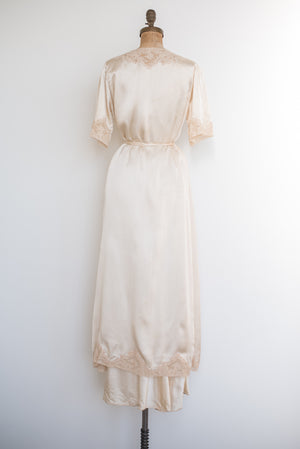 1930s 3-Piece Silk Trousseau Set - S