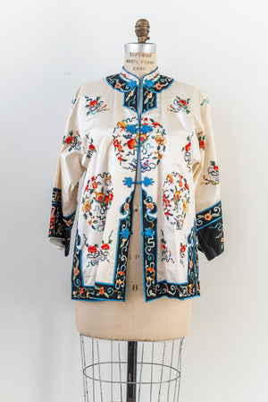 Vintage Silk Embroidered Jacket - S/M