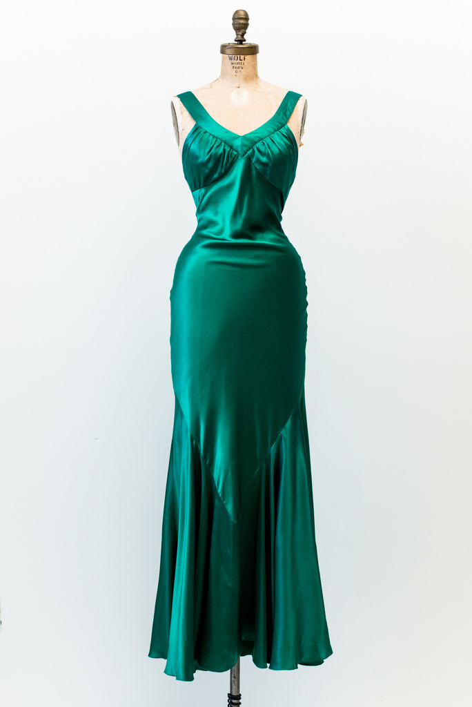 Green Silk Dress
